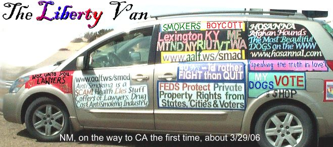 Aalf Liberty Van Smokers Rights Van Mobile Billboard